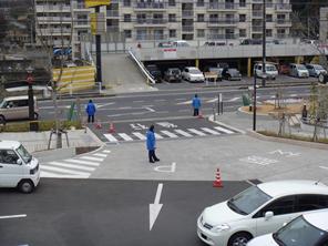 交通誘導警備風景